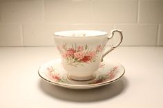 Shop for on Etsy, the place to express your creativity through the buying and selling of handmade and vintage goods. Antique China, Vintage China, Etsy Vintage, Vintage Shops, Vintage Kitchen Decor, Off Sale, Carnations, China Porcelain, Teacups