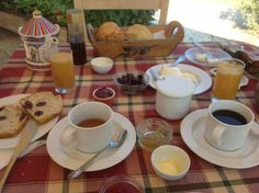 Breakfast at eleonas hotel under the olive trees