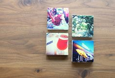 """Mini """"instagram"""" canvas project with mod podge! How cool is this? Maybe even as magnets!"""