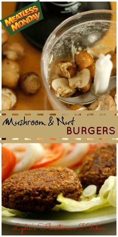 Monday: Mushroom & Nut Burgers Mushroom & Nut Burger ~ ~ Lydia's Flexitarian KitchenKitchen (disambiguation) A kitchen is a room used for the preparation of food. Kitchen may also refer to: Nut Burger Recipe, Whole Food Recipes, Cooking Recipes, Dinner Recipes, Meatless Burgers, Vegetarian Recipes, Healthy Recipes, Vegan Meals, Vegan Foods