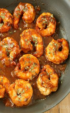 Spicy Beer Shrimp - Serve with rice or baked sweet potato.