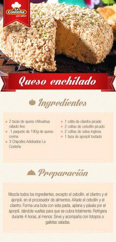 Queso enchilado.   #queso #lacosteña #receta