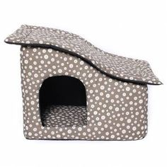 Soft Dot Fabric Roof Pet Dog Cat House *** Discover this special dog product, click the image : Dog house