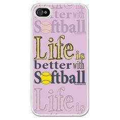 Personalized Softball Life is Better with Softball iPhone/Galaxy Case Inspirational Softball Quotes, Funny Softball Quotes, Soccer Memes, Softball Pictures, Softball Drills, Fastpitch Softball, Softball Mom, Softball Things, Girls Lacrosse