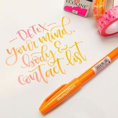 Detox your mind, body and contact list by @teenyletters . . Paper: glossy printer paper Pen: pentel fude touch sign brush pen dipped in Ecoline 337 . . . #lettering #handlettering #calligraphy #calligraphypractice #brushpen #brushpenlettering #brushpencalligraphy #pentel #pentelfudebrushpen #pentelpen #moderncalligraphy #fauxcalligraphy #ecoline #teenyletters #detox #detoxyourmind