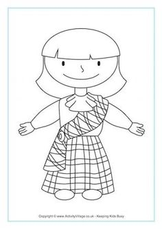 Robert Burns colouring page... Perfect for Burns dinner   All things ...