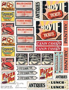 Retro Signs Collage Sheets