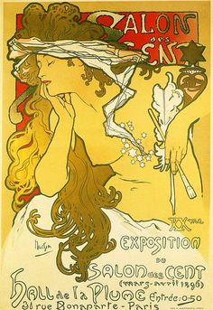 Salon of the Hundred - Alphonse Mucha #art #nouveau