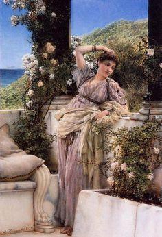 LAWRENCE ALMA TADEMA 1836 -  1912. Thou Rose of all the Roses