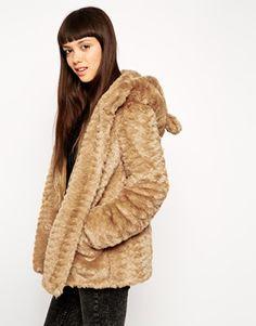 ASOS - Manteau à capuche en fausse fourrure avec oreilles d'animal