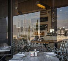 Michalis' bakery café by Studio Yaron Tal   lighting design by Studio Beam,  Modiin – Israel pendant cafe bakery Cafe Bistro, Cafe Bar, Restaurant Design, Restaurant Bar, Retail Solutions, Food Retail, Bakery Cafe, Design Furniture, Lighting Design