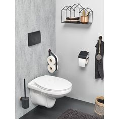 Tiger Urban Badaccessoires-Set The post Tiger Urban Badaccessoires-Set Master Bathroom Shower, Bathroom Toilets, Modern Bathroom, Toilet Brushes And Holders, Toilet Roll Holder, Small Toilet, New Toilet, Toilet Room Decor, Downstairs Toilet