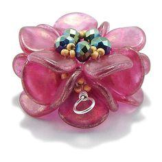 *P Tutorial Beaded Bead Using Rose Petal Beads & Seed by 1beadweaver