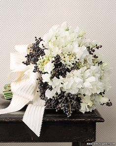 White-Sweet-Pea-and-Privet-Berry-Bouquet