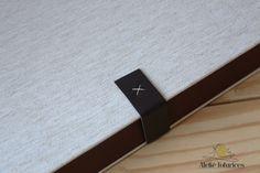 Faixa de couro costurado à mão