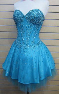 Short Beaded Prom Formal Corset Cocktail Dress