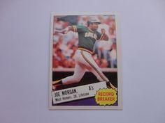 Joe Morgan 1985 Topps Baseball Card.
