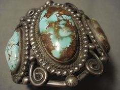 Opulent Vintage Navajo Turquoise Silver Bracelet- For Serious Collectors