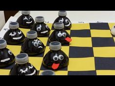 Just came across this cannel on YouTube. Great, easy, and cheap projects--- Recycled Water Bottle Crafts: Funny Checkers out of Plastic Bottles