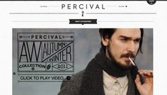 Percival Clothing - Web design inspiration from siteInspire