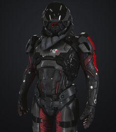 ArtStation - Pathfinder armor Mass Effect Andromeda, Anton Krasko