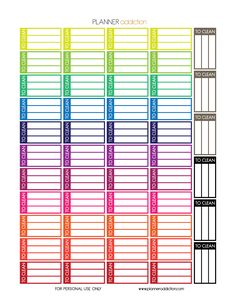 Free Printable To Clean Planner Stickers {PDF, JPG and Silhouette Files} from Planner Addiction