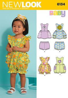 Simplicity Creative Group - Babies' Dress, Romper & Panties