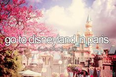bucket list- go to disneyland in paris
