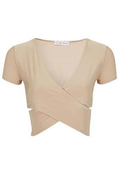 Capped sleeve wrap top