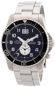 Who sells the cheapeston line Victorinox Swiss Army Men's 241441 Maverick GS Dual Time Black Double Date Dial Watch