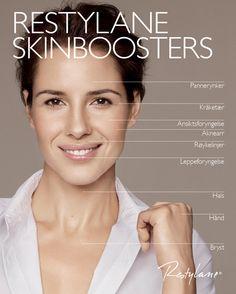 Restylane Skinboosters - gir huden en fuktinnsprøyting og ny glød