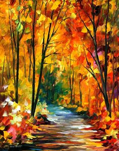 fall lane... water color artists are some of the most talented artists I know.