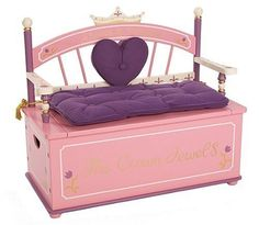 Beautiful Princess Bench Toy Box for a little girl's room. From the article: Beautiful Princess Dresses for Girls: http://www.squidoo.com/five-beautiful-princess-dresses-for-girls