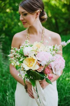 Peony Bouquet by Honey of a Thousand Flowers