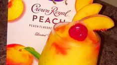 Peach Crown Royal Slushie Recipe Valentine s Day is upon us and it s time to let loose all the year s stresses that culminated into one big nbsp hellip Crown Drink, Crown Royal Drinks, Frozen Margaritas, Frozen Drinks, Easy Frozen Drink Recipe, Peach Whiskey, Whiskey Girl, Scotch Whiskey, Irish Whiskey