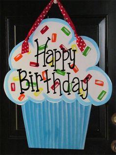 Happy Birthday Door Hanger cute!