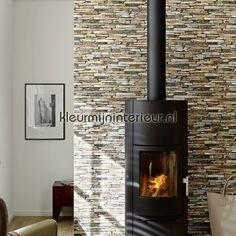 Ruwe bakstenen bruin 9079-12   Wood n Stone AS Creation   kleurmijninterieur.nl