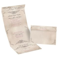 Best of Friends Seal and Send Wedding Invitation | All In One Invites at Invitations By Dawn