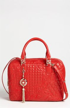 Versace 'Linea' Leather Satchel available at Nordstrom