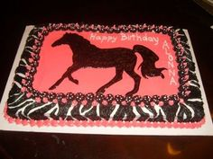 Horse Cake We Made For A Childs 12th Birthday