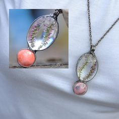 terrarium necklace real flowers and ceramics jewelry by zolanna