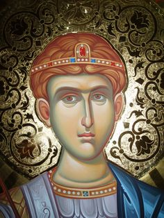 Byzantine Icons, Orthodox Icons, Leaf Design, Gold Leaf, Oil Paintings, Ikon, Saints, Princess Zelda, Fictional Characters
