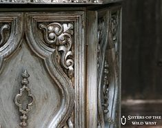 DIY silver glazed finish for furniture. I WILL DO THIS TO MY DRESSER!