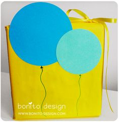 cute gift wrap idea / could run with simple ideas like this on a plain gift bag.