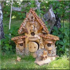 Carved fairy house.....