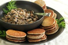 Mushroom Caviar with Buckwheat Blini | Wheat-Free Meat-Free