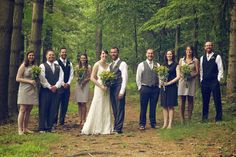 The whole wedding party! Looks great!