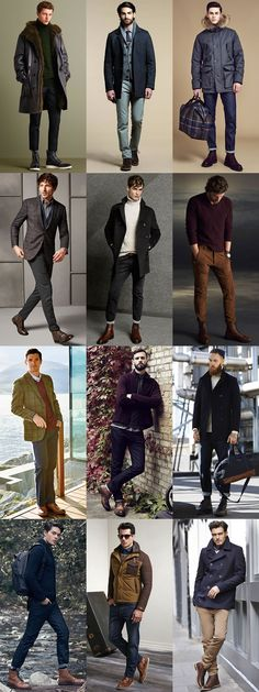 5 Classic Men's Autumn/Winter Boot Styles: 3. Brogue Boots Outfits Lookbook…