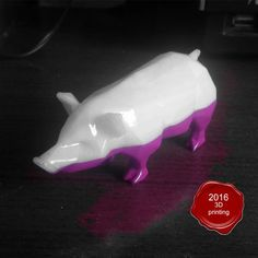 Pig low poly STL model, 3dpark