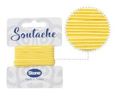 Cordon soutache 3mm butter ST2114 x 2.5m